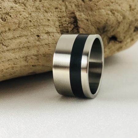 titanium ebony ring