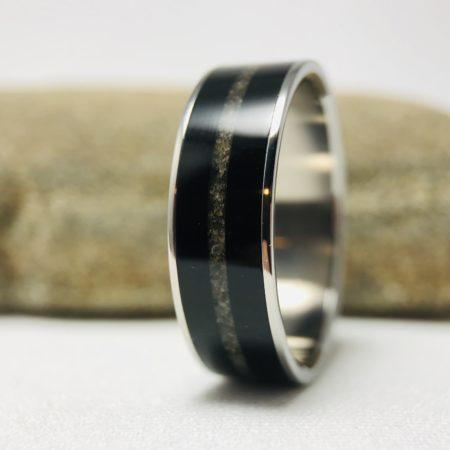 cremation ring ebony wood