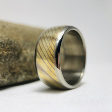 mokume wedding ring