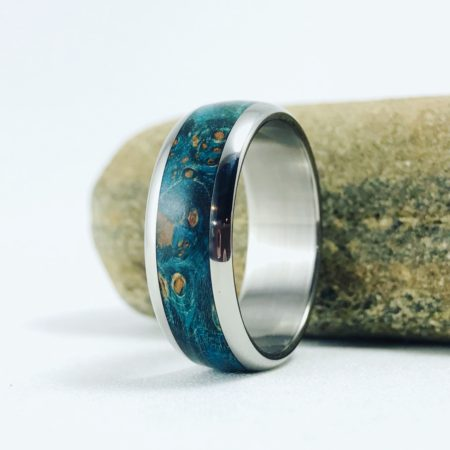 burl wood ring