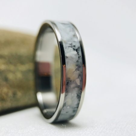 White cremation ring